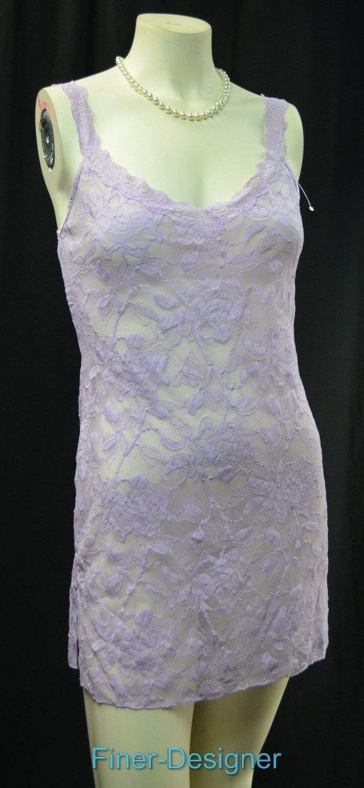 VICTORIA'S SECRET Nightie Cami Sexy teddie stretch purplec purple lace Size M NEW