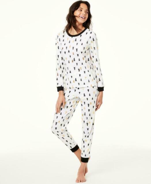 Matching Family Pajamas Womens Tree Print Pajama Set Small Sleepwear