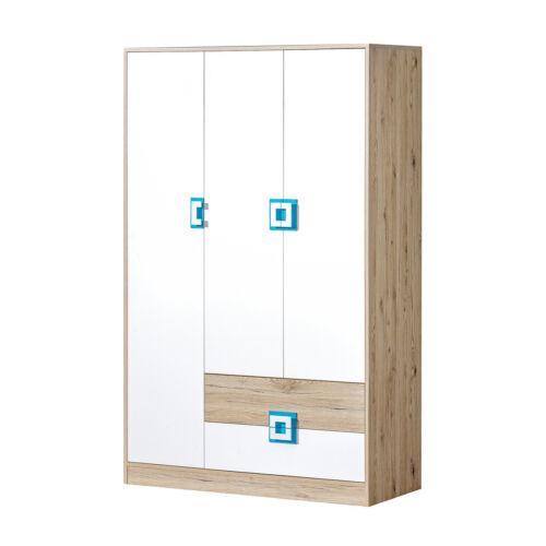 Kleiderschrank Nico NC03 Modern Jugendzimmer Kollektion Garderobenschrank