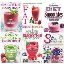 Smoothie Diet Recipes 6 Books Collection Set,The Green Smoothie Recipe Book, New