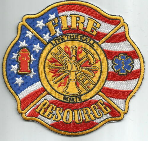 """Fire Resources fire patch 3.75/"""" X 3.75/"""" size Live the Call"""