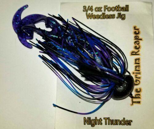 "Night Thunder Football Jig /""Owner Hook/"" assorted sizes 3//8 1//2 /& 3//4 oz"