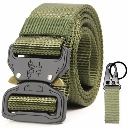 Mens Tactical Duty Belt Military Style Nylon Webbing