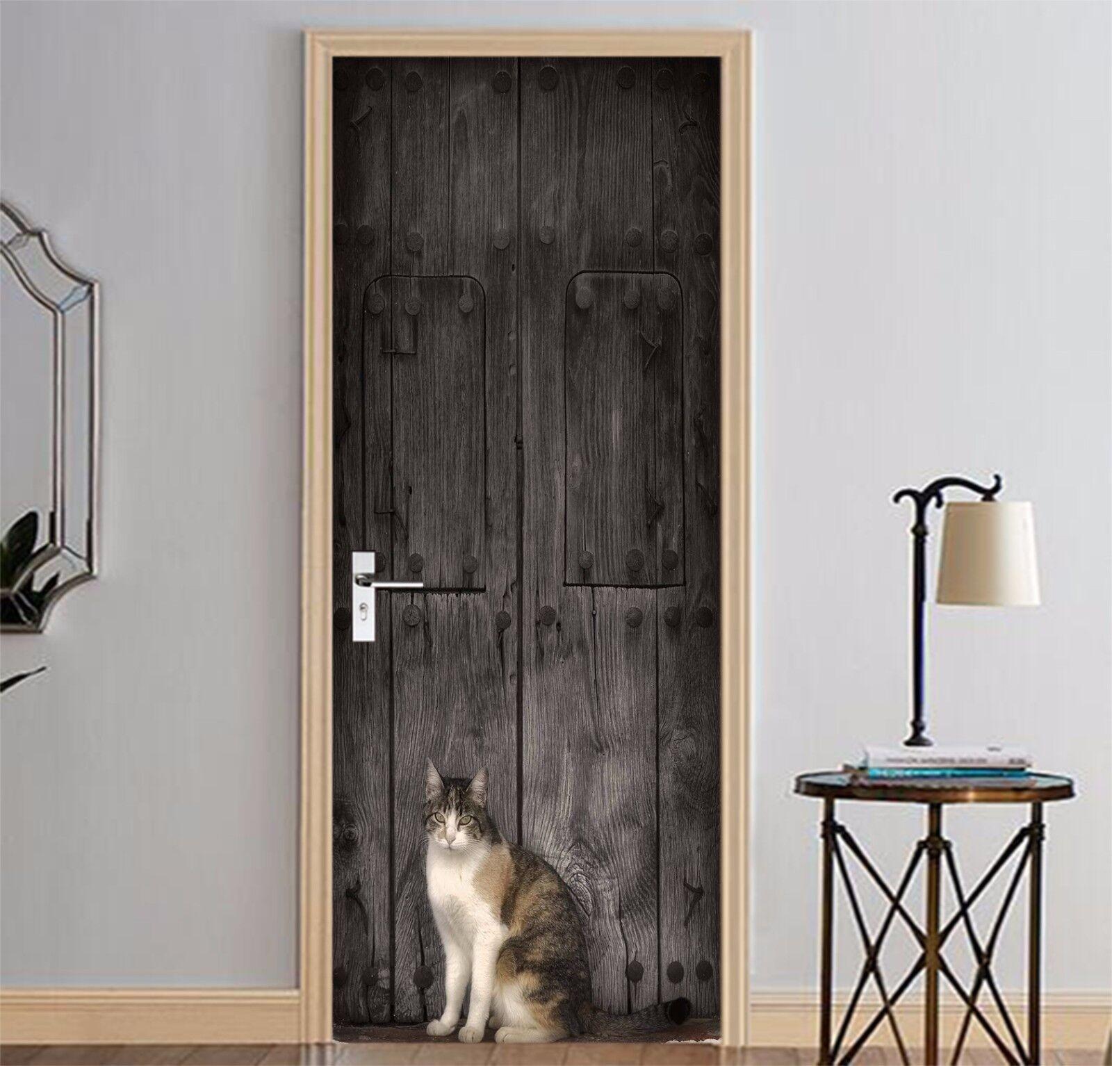 3D Katze Tier Tür Wandmalerei Wandaufkleber Aufkleber AJ WALLPAPER DE Kyra  | Helle Farben  | Online Kaufen  | Neues Design