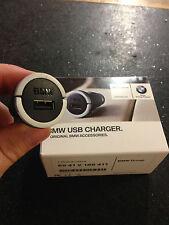 BMW USB SINGLE CHARGING ADAPTOR CIGAR SOCKET NEW 65412166411