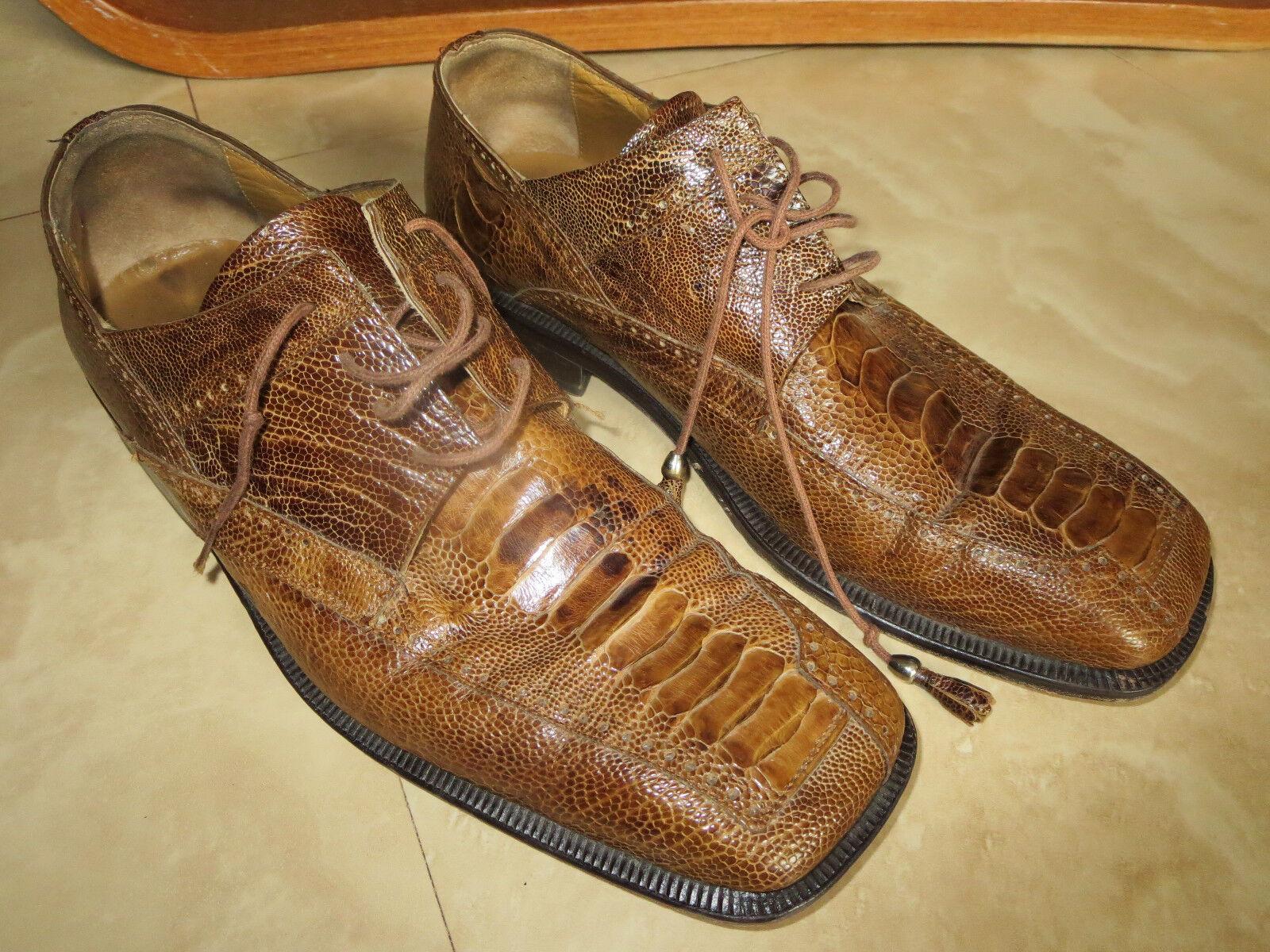 Sconto del 70% David Eden Marrone ostrich skin scarpe 9-1 9-1 9-1 2   prezzi più convenienti