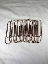 Set Of 10 Extra Large Paper Clips 4 Jumbo Copper Colored Crafts School Office