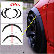 4× Car Automobile Exterior Fender Flares Flexible High Quality Black Polyurethan