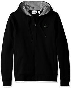 fa23a32a87d3 Lacoste Men s Tennis Sport Full Zip Hoodie Fleece Sweatshirt