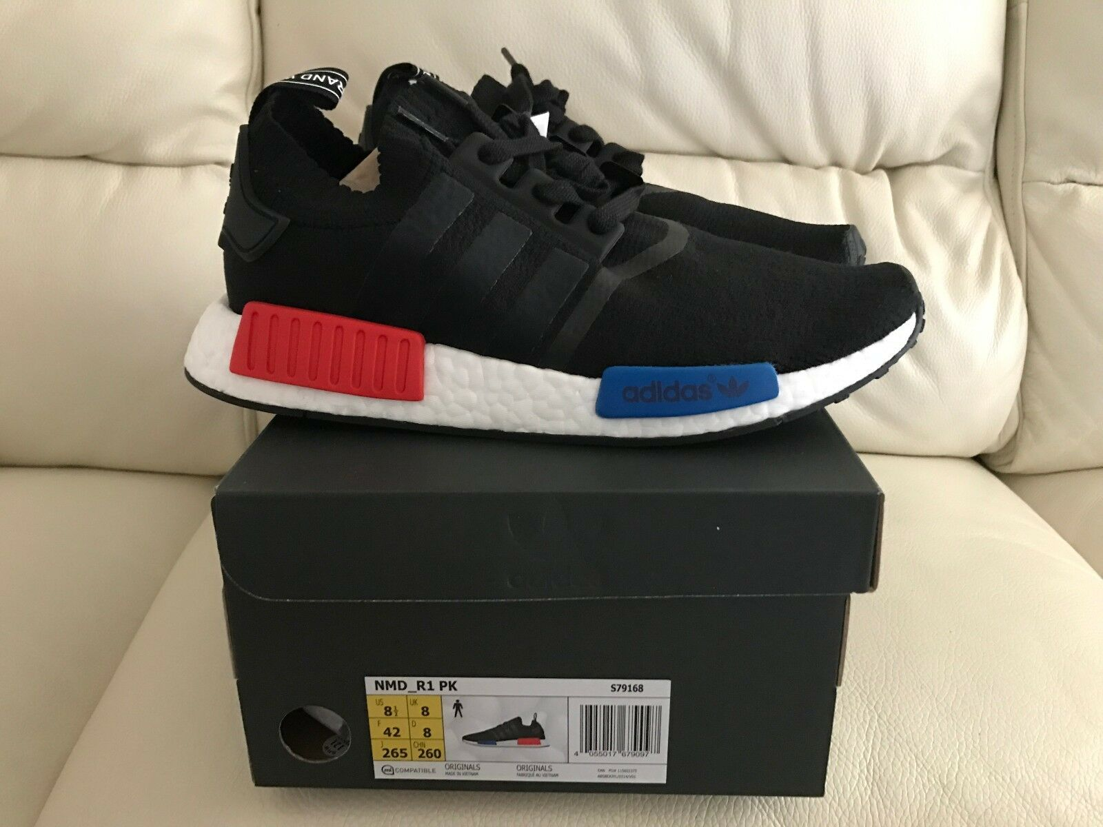 ADIDAS NMD NMD NMD Primeknit RUNNER Og Nero Blu Rosso Tutte le taglie 04a27f