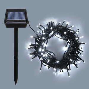 Led 100 solar powered fairy lights outdoor garden xmas tree party image is loading led 100 solar powered fairy lights outdoor garden aloadofball Choice Image