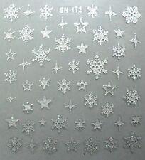 Accessoire ongles, nail art : flocons de neige et étoiles argentés