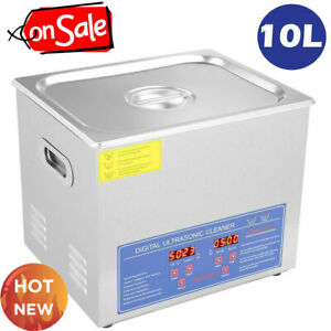 Stainless-Steel-10L-Industry-Heated-Ultrasonic-Cleaner-Heater-w-Timer