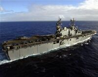 8x10 Navy Photo: Uss Tarawa, United States Navy Amphibious Assault Ship