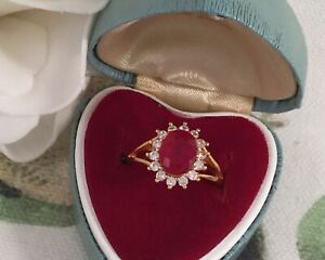 Vintage-Jewellery-Gold-Ring-with-Ruby-White-Sapphires-Antique-Deco-Jewelry-M