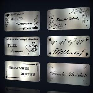 EDELSTAHL-TURSCHILD-NAMENSSCHILD-KLINGELSCHILD-MIT-LASERGRAVUR-NACH-WUNSCH