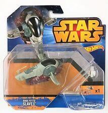 Mattel CKJ63 Hot Wheels Star Wars BOBA FETT Slave 1 Moulé Starship