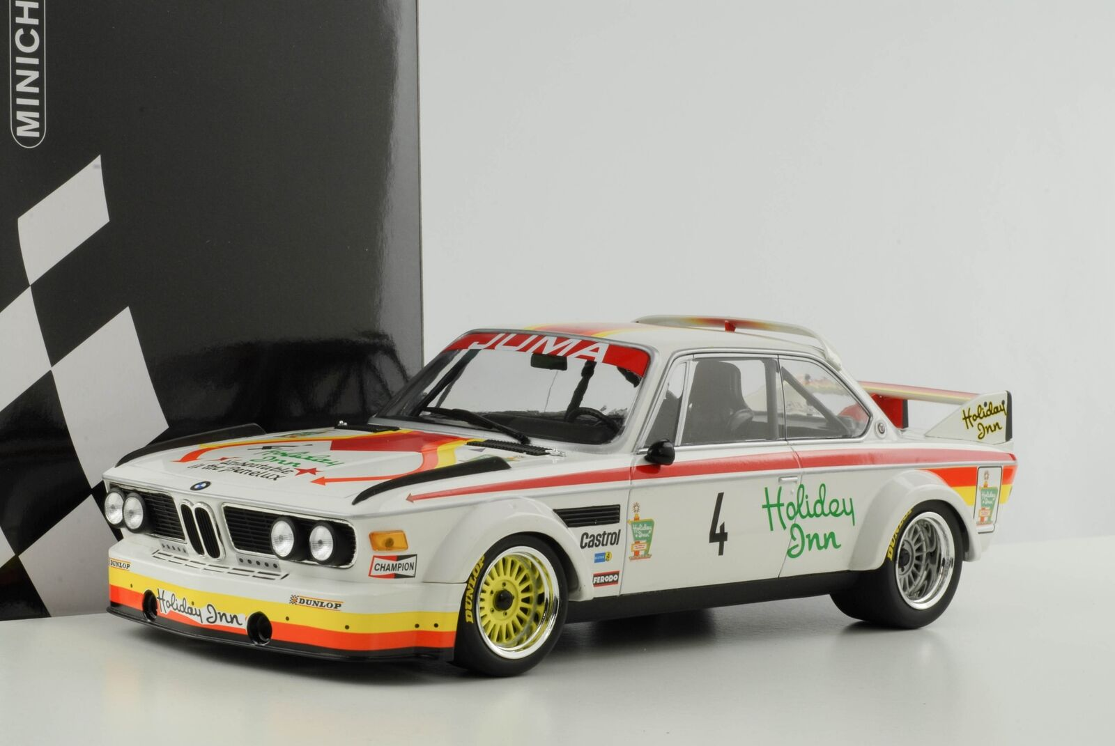 Bmw 3.0 CSL  4 corbisier joosen berndtson nurburgring 1976 Juma 1 18 Minichamps