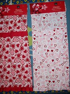 Home-Wear-Apron-Adult-Valentine-Design-Pink-Red-White-Select-Style-OSFM-NWT