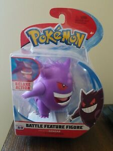 """Pokemon Deluxe Battle Feature 4.5/"""" Gengar Action Figure NIP New Free Shipping FB"""
