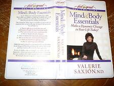 Dr Valerie Saxion Mind & Body Essentials Audio Tape Set 4 Cassettes Silver Creek