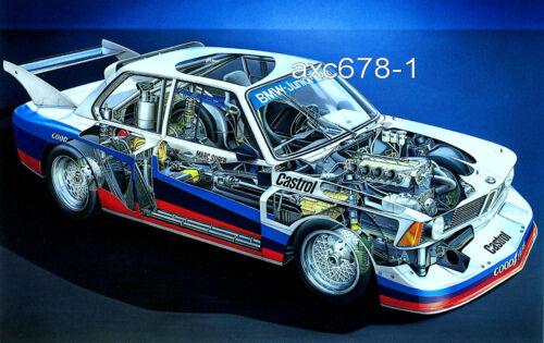 Bmw 320 turbo grupo 5-e21-Surer//BMW Junior Team 1977-dibujo de corte