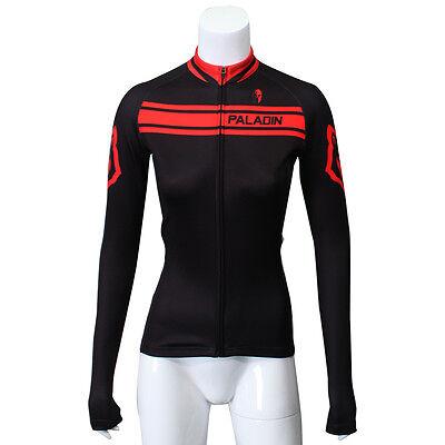 Women's Black Casual Long Sleeve Biking Jersey Sportwear Cycling Clothing