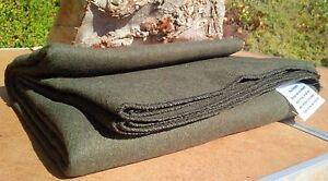 3-Lb-WOOL-BLANKET-Throw-Military-Wilderness-Emergency-Survival-Camping-Shelter