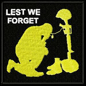 LEST-WE-FORGET-EMBROIDERED-MILITARY-BIKER-PATCH