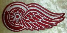 """Detroit Red Wings NHL Logo 4"""" Iron On Embroidered Patch ~USA Seller~"""