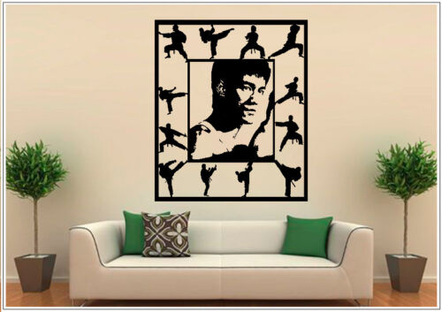 Wall Tattoo Wall Sticker Wall Sticker Photo Portrait of Bruce Lee Kongfu wph50