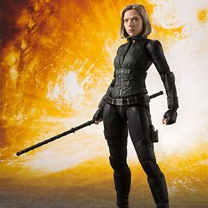 Marvel-Black-Widow-15cm-SHFiguarts-Avengers-Infinity-War-BJD-Action-Figures-Toys