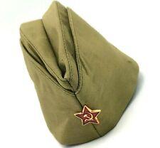 3ab409ff8 USSR Russian Military Garrison Cap Field Forage Ww2 Hat Pilotka Red ...
