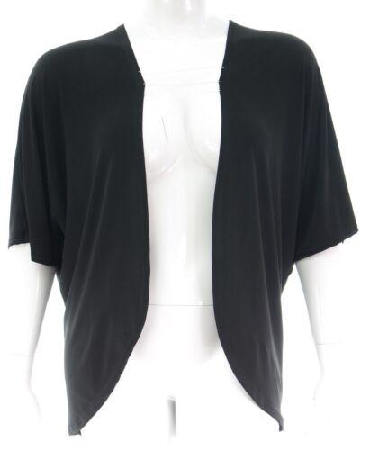 Élégant nouveau taille plus simple noir stretch kimono cardi coupe ample veste pour femme