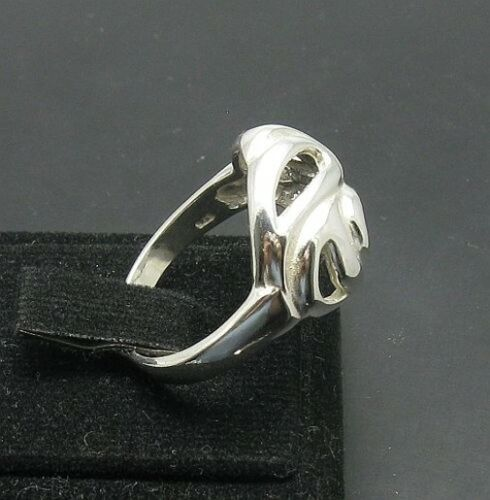 Z STYLISH PLAIN STERLING SILVER RING SOLID 925 NEW SIZE G