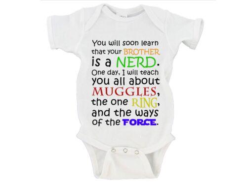 Lord of the Rings Star Wars Baby Onesie Nerdy Nerd Geek CUSTOM Harry Potter