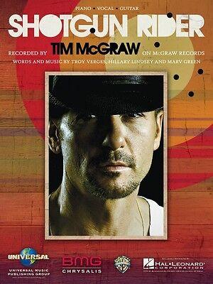 Shotgun Rider Sheet Music Piano Vocal Tim McGraw NEW 000142407