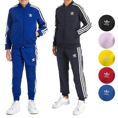 Adidas Originals SST TREFOIL 3 STRIPE KIDS JACKET CF8552   eBay