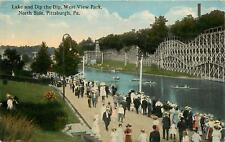 Pennsylvania, PA, Pittsburgh, Roller Coaster, West View Park, North Side 1914 PC