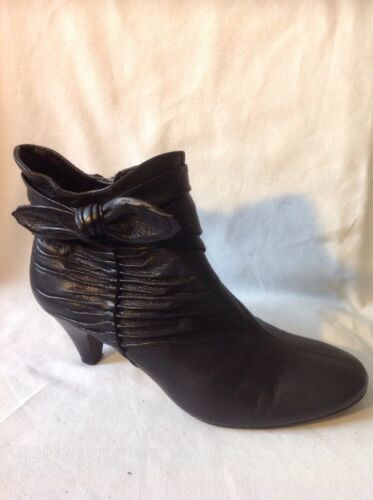 5d Leather Black Clarks 5 Ankle Size Boots E7xYq
