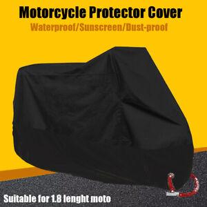Moto-Scooter-Impermeable-UV-Poussiere-Pluie-Housses-Bache-Protecteur-Pro-Deco
