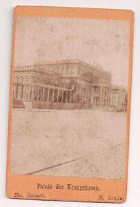 Vintage-CDV-Kronprinzenpalais-Crown-Prince-039-s-Palace-Berlin-Germany-1872-Image