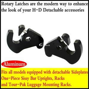 Rotary-Latch-Kit-Hardware-for-Harley-Sissy-Bar-Luggage-H-D-Touring-Detachables