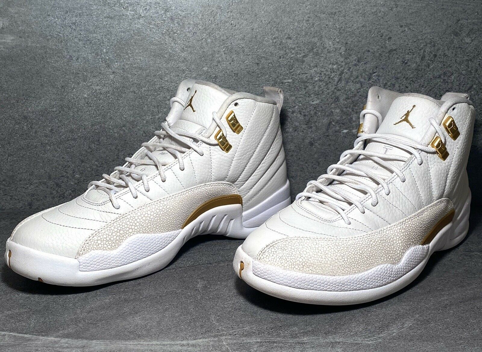 air jordan 12 retro ovo white metallic gold white