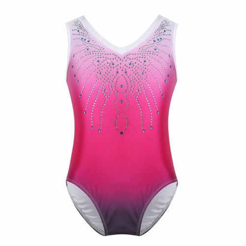 Gymnastikanzug für Mädchen Ballett Body Leotards Bodysuit Gymnastik Tanz Kostüme