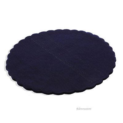 10 Velo Fata Blu Sacchetti Portaconfetti Cerimonie Tondo Ondulato Diam.23 Cm Saldi Di Fine Anno