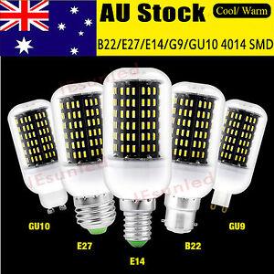 AU-E27-B22-E14-GU10G9-4014-SMD-LED-LAMP-CORN-BULB-LIGHT-220-240V-WARM-COOL-WHITE