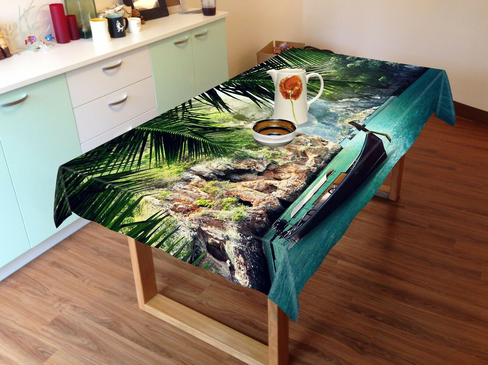 3D Boat 4785 Tablecloth Table Cover Cloth Birthday Party Event AJ WALLPAPER AU