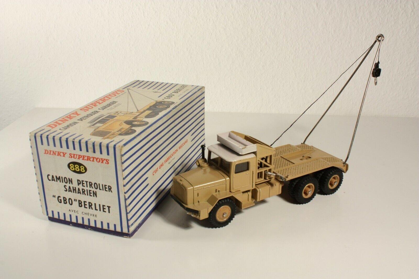 Dinky Toys 888, disociada Petrolier Saharien  Gbo  Berliet, Mint en Box  ab2286