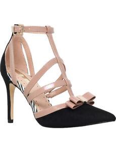 a04dc8b1a21 Details about Kurt Geiger Miss KG Black T-Bar Patent High Heel Court Shoes  Size 6 / 39 RRP £80